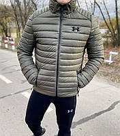 Куртка мужская зимняя короткая хаки Under Armour Андер Армор