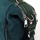 PODIUM Сумка Женская Классическая иск-замш FASHION 1-011 977-1 green, фото 2
