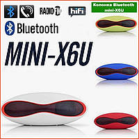 Колонка портативная Bluetooth USB MicroSD 3Вт Mini-X6U мобильная блютус