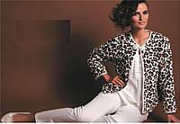 Турецкая женская пижама, 3 предмета р.50-52. Турция MARILYN CLUB белая ХЛ