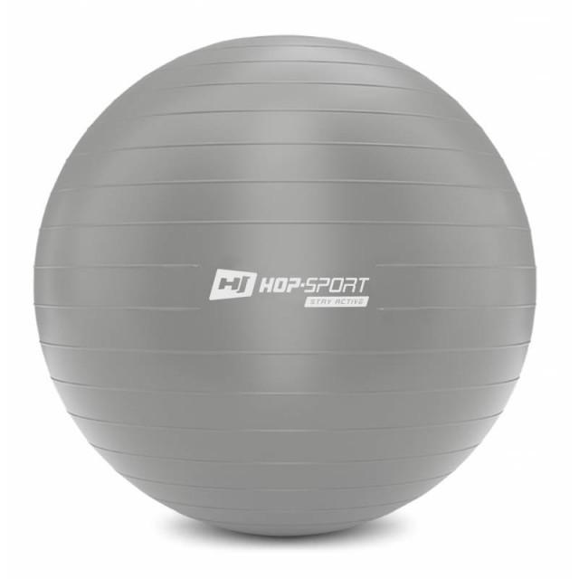 Фитбол Hop-Sport 75 см серебристый + насос 2020