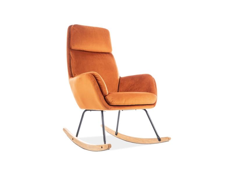 Кресло-качалка HOOVER VELVET оранжевый (Signal)