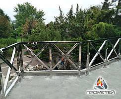 Перила из профильной квадратной или квадратной - для лестниц и лестничных площадок