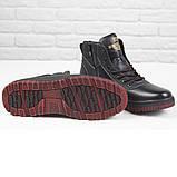 Зимові чоловічі теплі черевики на хутрі Stylen Gard M9091-2 чорні, фото 2