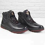 Зимові чоловічі теплі черевики на хутрі Stylen Gard M9091-2 чорні, фото 4