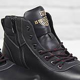 Зимові чоловічі теплі черевики на хутрі Stylen Gard M9091-2 чорні, фото 5