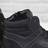 Зимові чоловічі теплі черевики на хутрі Stylen Gard M9091-2 чорні, фото 6