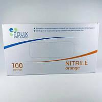 Нитриловые оранжевые перчатки Polix Pro & Med M