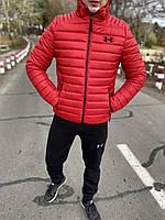 Куртка мужская зимняя Under Armour до - 20*С теплая красная   пуховик мужской зимний Андер Армор ЛЮКС качества