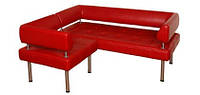 """Угловой диван """"Тетро-люкс угловой"""" для кафе или ресторана в кожзаме от производителя"""