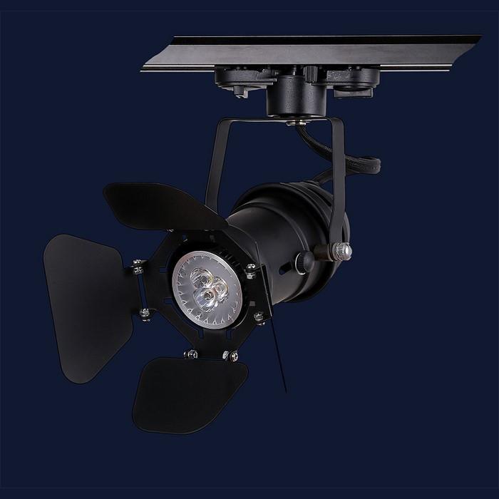 Люстра - прожектор в стиле лофт Levistella 75229 BK (трек)