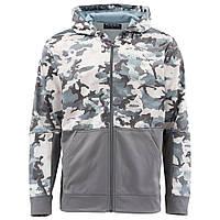 Куртка Simms Challenger Hoody - Full Zip Hex Flo Camo Grey Blue S