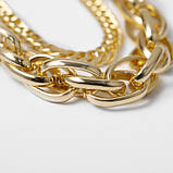 "Ланцюжок подвійна з великими ланками ""Big Necklace"", золото, фото 4"