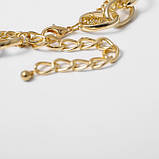 "Ланцюжок подвійна з великими ланками ""Big Necklace"", золото, фото 5"