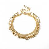 "Ланцюжок подвійна з великими ланками ""Big Necklace"", золото, фото 6"