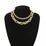 "Ланцюжок подвійна з великими ланками ""Big Necklace"", золото, фото 7"