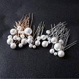 """Шпильки с жемчугом  разного размера """"Pearl Placer"""", набор 18 шт, фото 2"""
