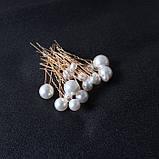"""Шпильки с жемчугом  разного размера """"Pearl Placer"""", набор 18 шт, фото 5"""