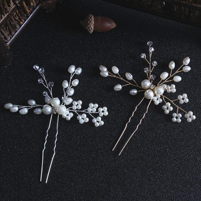 """Шпилька для волос с жемчугом и кристаллами """"Bouquet"""", 1 шт"""