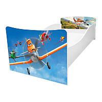 Кровать детская Kinder / Киндер 2 Самолетики с защитным бортиком ТМ Viorina-Deko