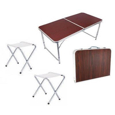 Стол чемодан и 2 стула для кемпинга пикника 60х90 см 150107