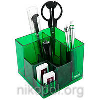 """Настольный набор (органайзер) """"Axent 2106-09-А Cube"""" 9 предметов, салатовый"""