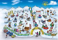 Зимние аттракционы. Сноутюбинг. Детский городок.