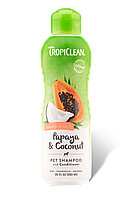 Шампунь Tropiclean Papaya Coconut для собак и кошек 592 мл 202184, КОД: 1572762
