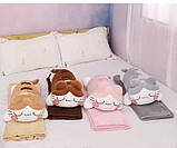 Плед детский + игрушка котик и подушка 3в1 оптом, фото 2
