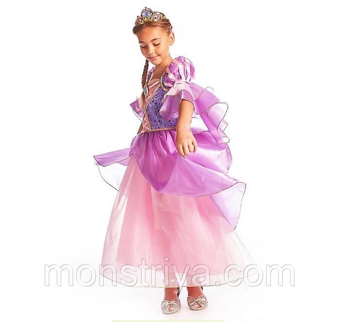 Карнавальний костюм, плаття Рапунцель: Заплутана історія (Tangled) Disney 2020 року