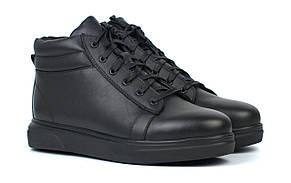 Зимові черевики чоловічі шкіряне взуття на хутрі великий розмір Rosso Avangard Bridge Sleep BS