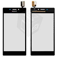 Сенсорный экран (touchscreen) для Sony Xperia M2 D2302/D2303/D2305/D2306, оригинал (черный)
