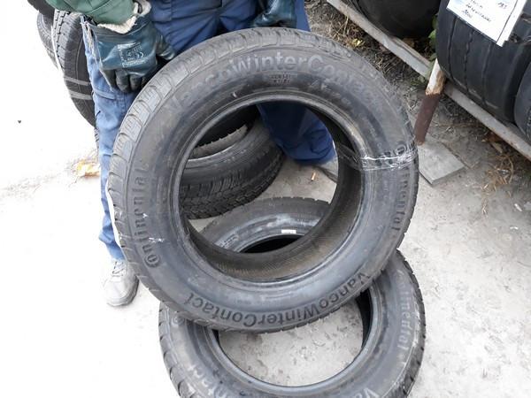 Шины б.у. 215.65.r16с Continental VancoWinter Contact Континенталь. Резина бу для бусов. Шина усиленная. Цешка