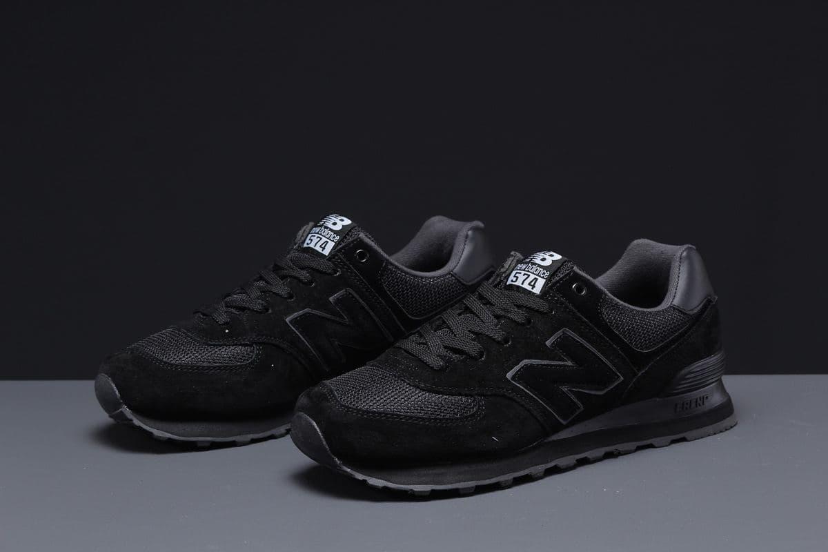 Мужские кроссовки New Balance 574  чёрные А1042