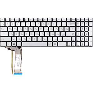 Клавиатура для ноутбука ASUS N551, N551JQ серебристый, без фрейма