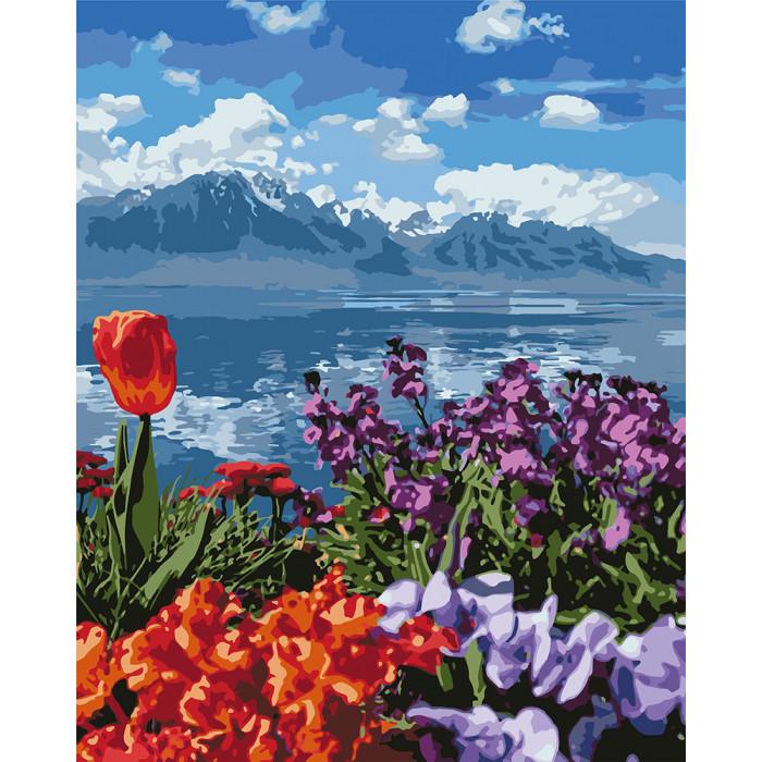 """Картина по номерам. """"Цветочный рай"""" 40*50см KHO2278"""
