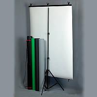 Набор бумажных фонов 1м х 1.35м + держатель фона ( BPK-4) для портретной съемки