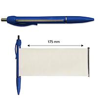Ручка-баннер шариковая Версаль, пластиковая, синий
