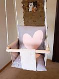 Підвісна гойдалка Ніжність. Дитяча гойдалка, гойдалка дитяча, дитячі гойдалки, гойдалки підвісні, гойдалки, фото 2