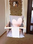 Підвісна гойдалка Ніжність. Дитяча гойдалка, гойдалка дитяча, дитячі гойдалки, гойдалки підвісні, гойдалки, фото 3
