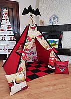 Вигвам Тачки 2 Полный комплект! Детская палатка, детский вигвам, детский домик,вигвам детский