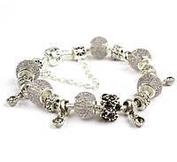 Нежный браслет Pandora Style Love серии, в белом цвете