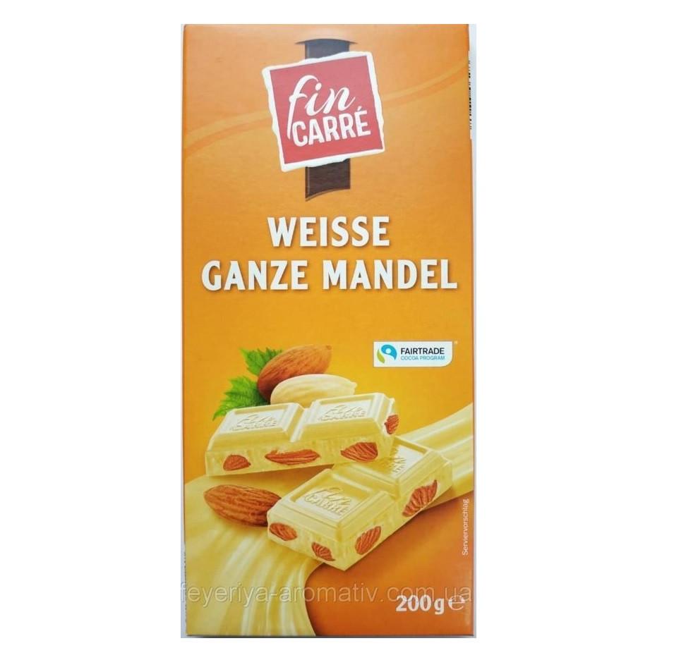 Шоколад белый Fin Carre (с цельным миндальным орехом) 200 г Германия