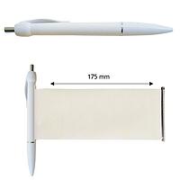 Ручка-баннер шариковая Версаль, пластиковая, белая