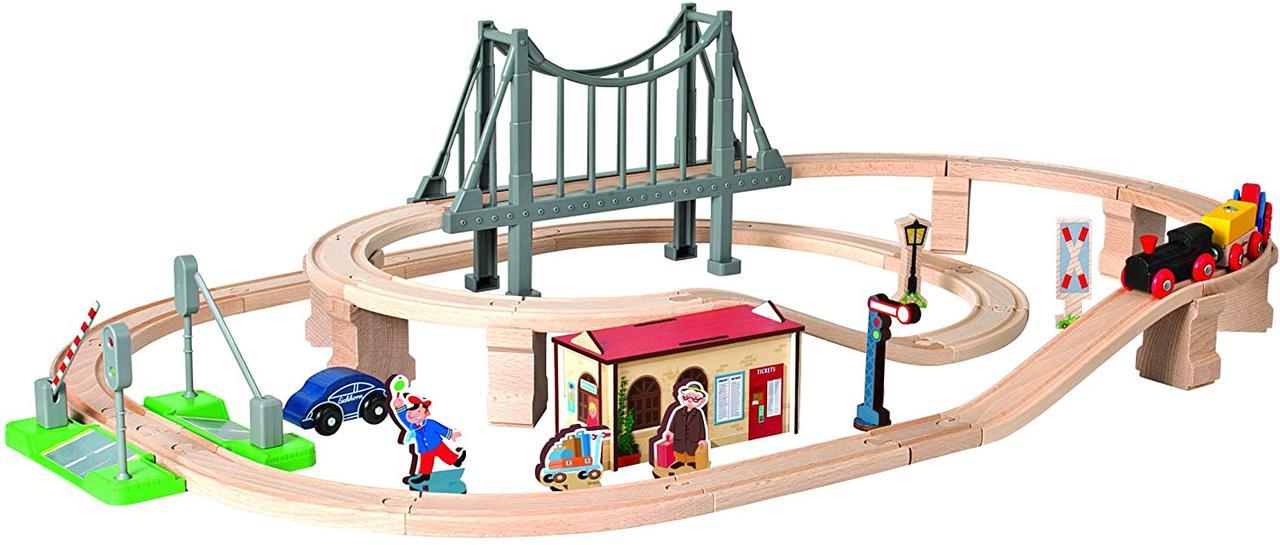"""Игровой набор Eichhorn """"Железная дорога. Прибытие на остановку"""", 54 элементов, длина 430 см, 100001266"""