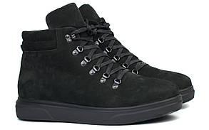 Черевики чоловічі зимові чорний нубук взуття на хутрі на широку стопу великий розмір Rosso Avangard Rangers SL BS