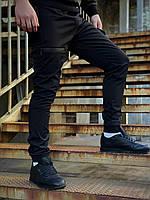 Штаны карго брюки мужские зимние теплые качественные черные Flash Intruder