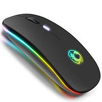 Беспроводная бесшумная мышь RGB с 2,4ghz и светодиодной подсветкой Mice e1300