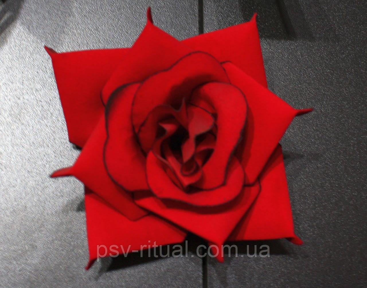 Роза раскрытая Бархат с кантом R-4