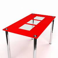 Стол обеденный из стекла модель Малевич
